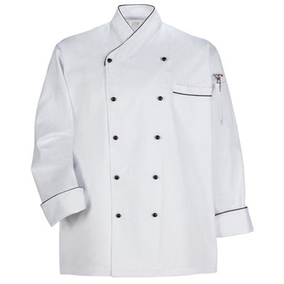 Executive Chef Coat in White With Trim