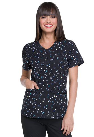 Elle Prints V-Neck Top in Simply Stars