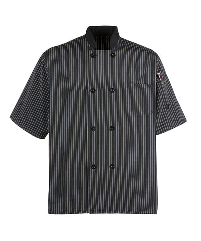 Lead Person Pinstripe Chef Coat in Charcoal