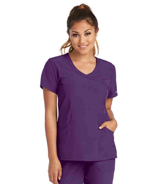 3 Pocket Skechers Mock Wrap Top - AA Dietitian