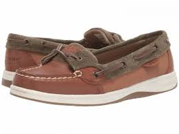 Sperry Women's Angelfish Varsity Tan & Olive
