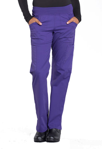 Mid Rise Straight Leg Pull On Pant by Cherokee - AA Dietitian