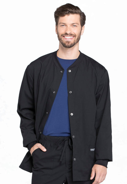 Men's Cherokee Snap Front Warm Up Jacket - TC