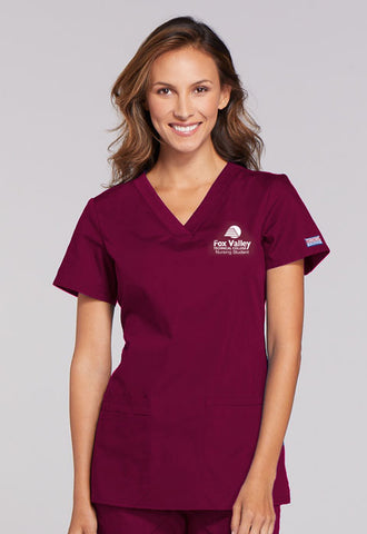 Cherokee WorkWear WW645 V-Neck Scrub Top - FVTC