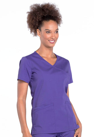 Cherokee Professional Mock Wrap Top - AA Dietitian