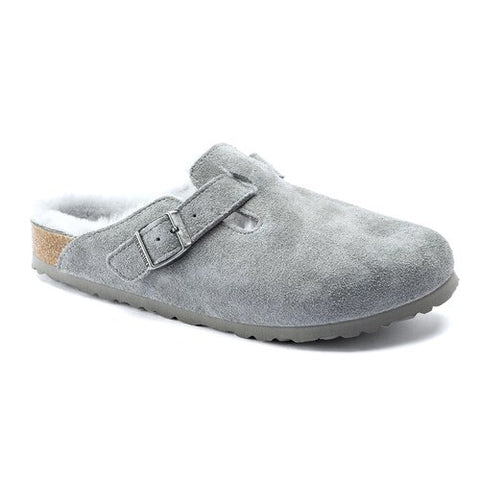 Birkenstock Boston Fur Gray