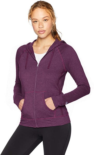 Champion Women's Heathered Jersey Full Zip