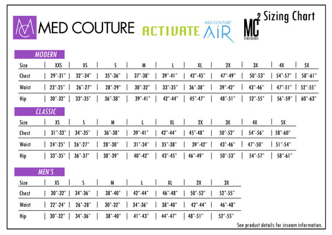 Med Couture Sizing Guide