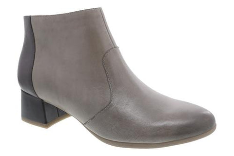 Dansko Petra Burnished Nubuck Stone Ankle Boot