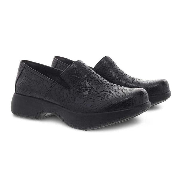 Dansko Professional Clog in Winona Black Tooled Leather