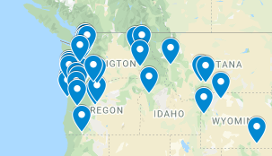 Map of BIPOC bookstores