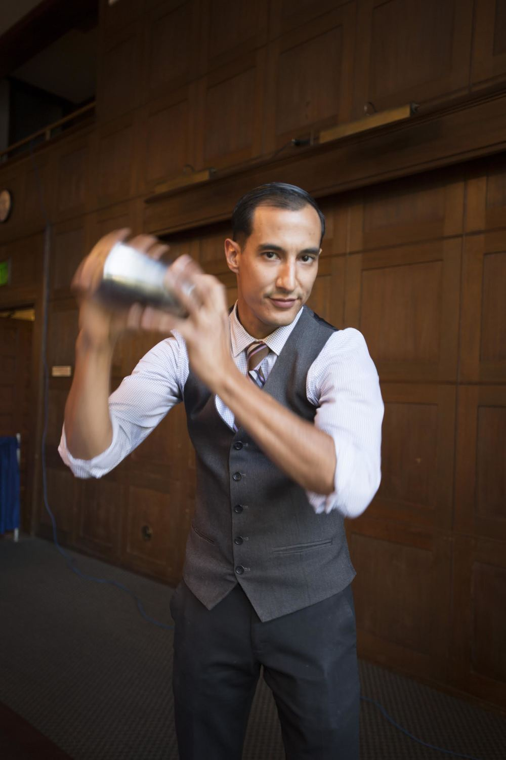 Tony Gurdian, Lead Barman for Imperial giving a cocktail a shake
