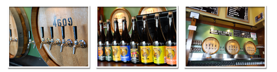 Cascade Brewing's tasting room and bottled beers