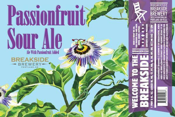 Breakside Brewery Passionfruit Sour Ale label