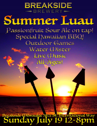 Poster for Breakside Brewery 2015 Luau Party
