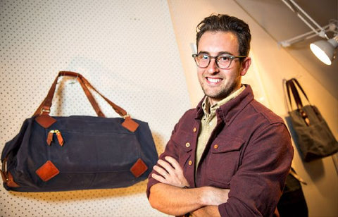 Portland business owner Sam Huff of Tanner Goods leather products