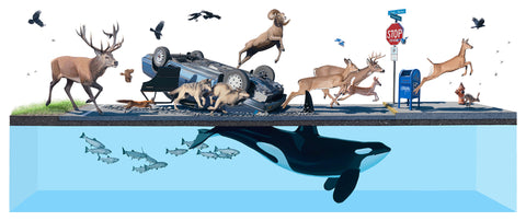 Josh Keyes's Painting Titled Migration
