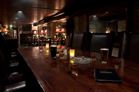 Interior bar of Kell's Irish Restaurant and Brewery
