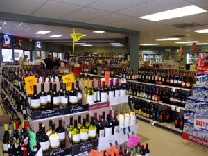Interior of a liquor store in Breckenridge Colorado