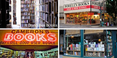 Indie Bookstores in Portland, OR: Mother Foucaults, Cameron's Books & Magazines, Daedalus Books, and Powell's City of Books