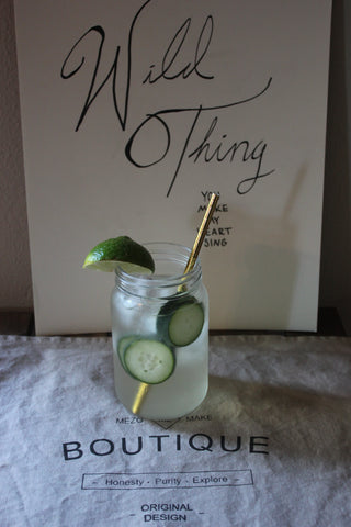 final drink cucumber lime tequila cocktail