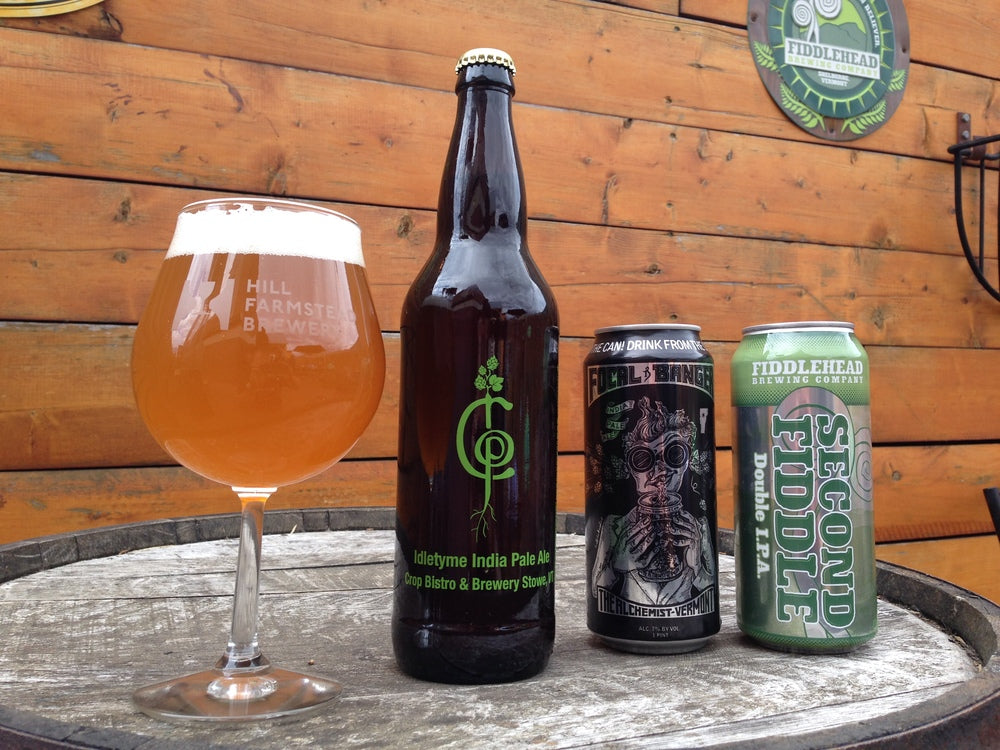 Idletyme IPA from Stowe Vermont served and ready to sip