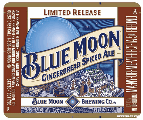 Blue Moon Fall Beer Gingerbread Spiced Ale