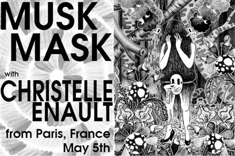 Hellion Gallery art show for Christelle Enault's Musk Mask