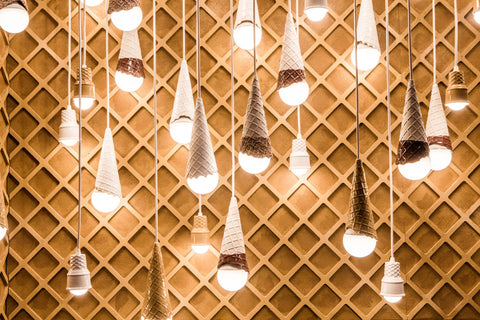 Museum of Ice Cream Pop Up in New York Cone Lights