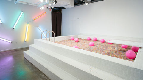 Sprinkle pool from the Museum of Ice Cream Pop up in New York
