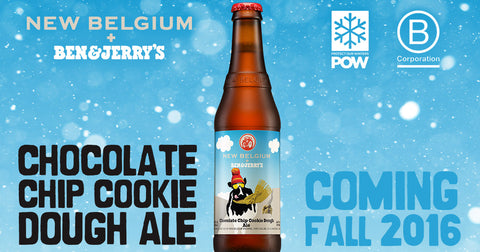 New Belgium Brewing and Ben & Jerry's Ice Cream Fall 2016 Beer Collaboration Chocolate Chip Cookie Dough Ale