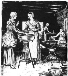 Women brewing beer