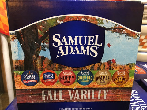 Samuel Adams Brewery 2016 Fall Variety Pack Beers