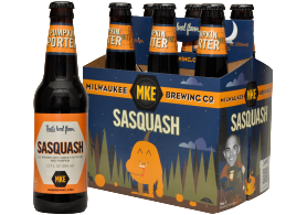 Sasquatch Pumpkin Porter Fall Beer from Milwaukee Brewing Co