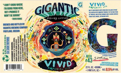 Vivid IPA beer label art by Souther Salazar