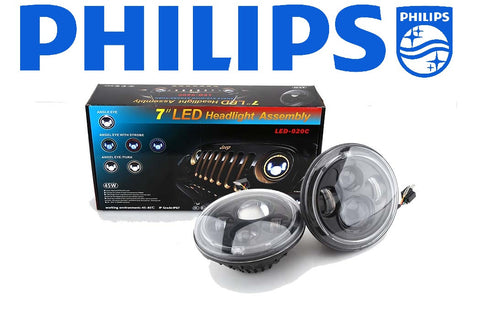 "7"" Universal Round Philips LED HEADLIGHT"