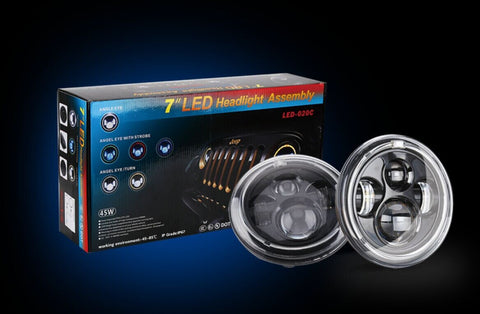 "7"" Round Philips LED HEADLIGHT - JK"