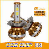 COB A2-Series H4 DUAL BEAM 30/60w High Power Kit