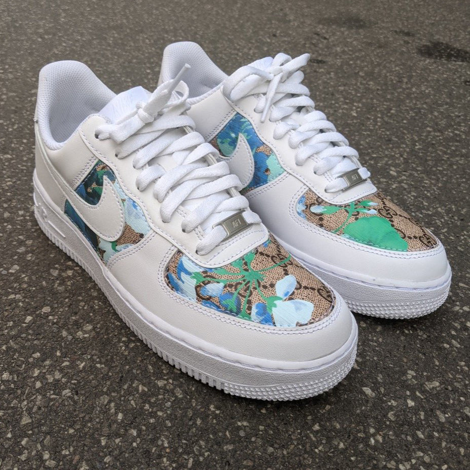 Stitched Gucci Blooms x Nike Air Force 1