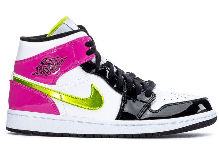 "Nike Air Jordan 1 Mid White Black ""Cyber Pink"""