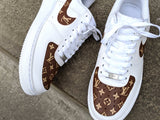 Brown Lv x Air force 1