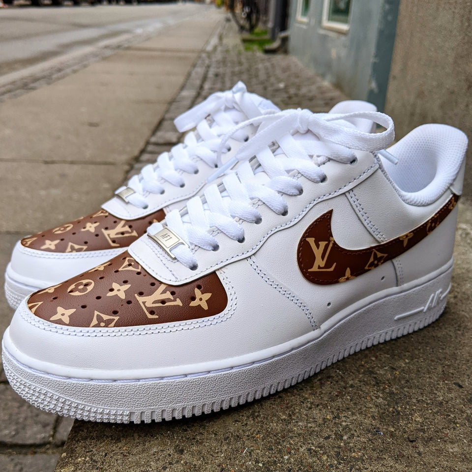 LV Brown Monogram x Nike Air force 1