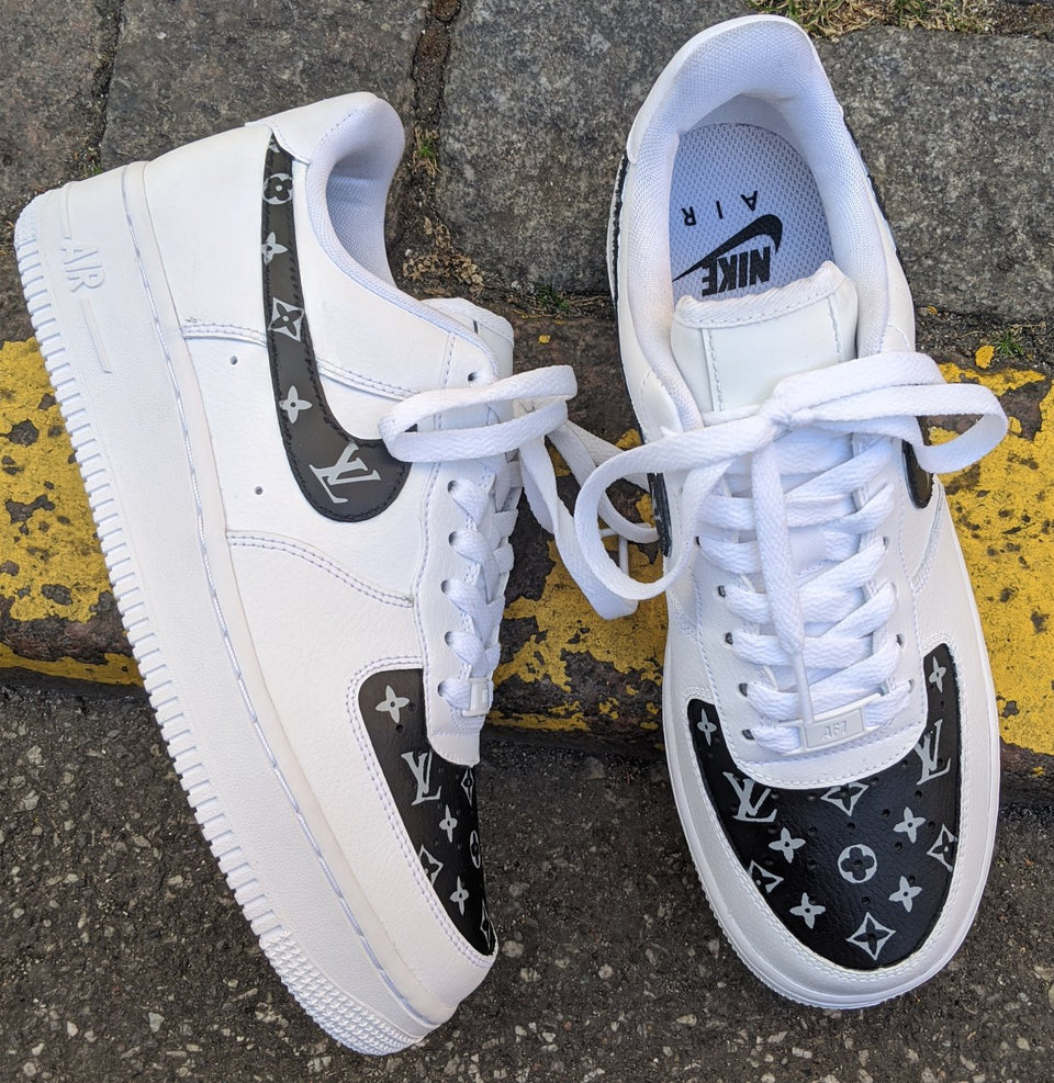 LV Black Monogram x Nike Air Force 1