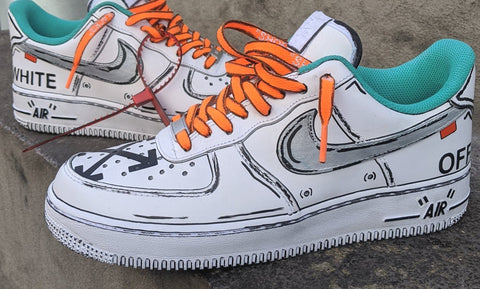 Cartoon OFF-WHITE Air Force 1