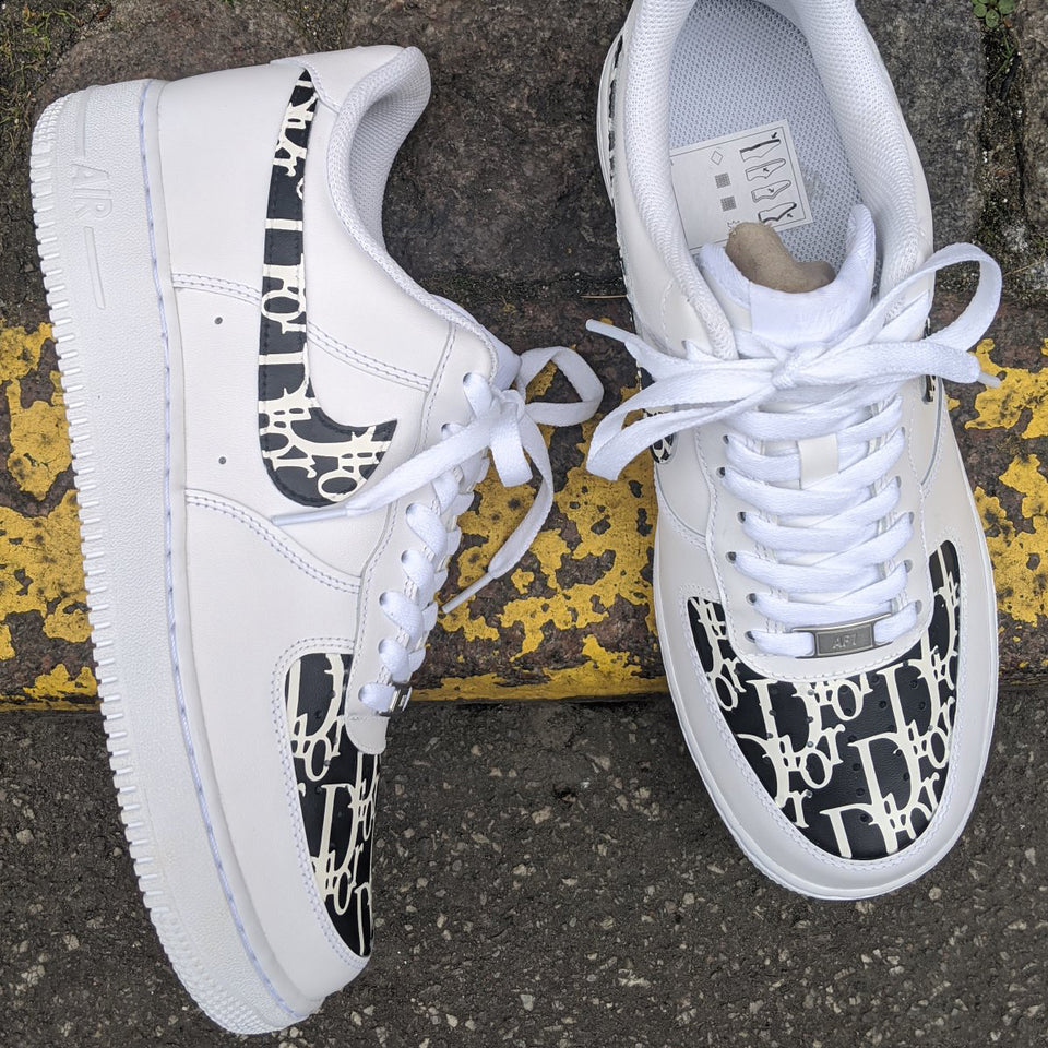 Dior Black Monogram x Nike Air Force 1