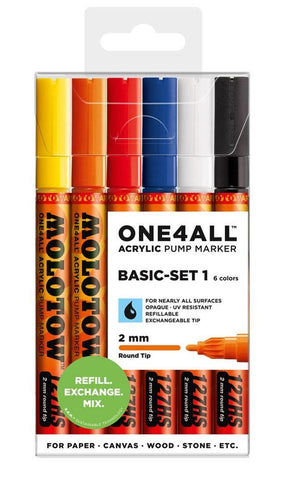 Molotow ONE4ALL Basic set 1