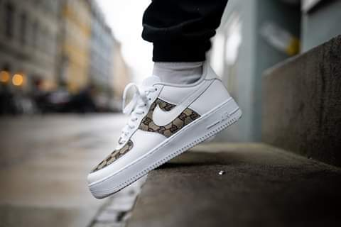 Stitched Gucci Monogram x Nike Air Force 1