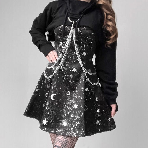 Starry Moon Gothic Dress