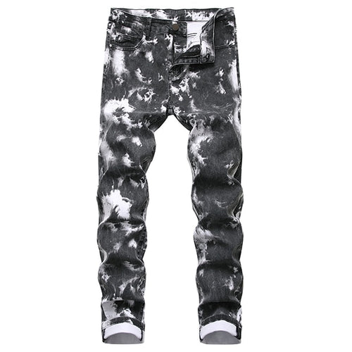 Men's Snow Washed Stretch Jeans