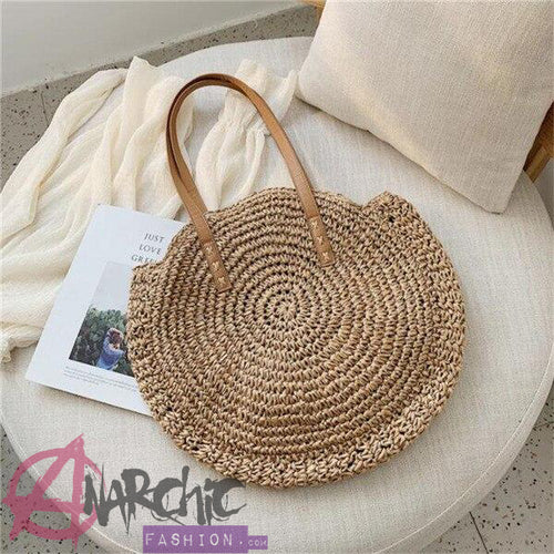 Bohemian Straw Beach Bag